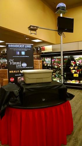 TV Show Set Up at Safeway