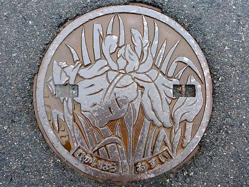 Mukaihara Hiroshima, manhole cover 2 (広島県向原町のマンホール2)