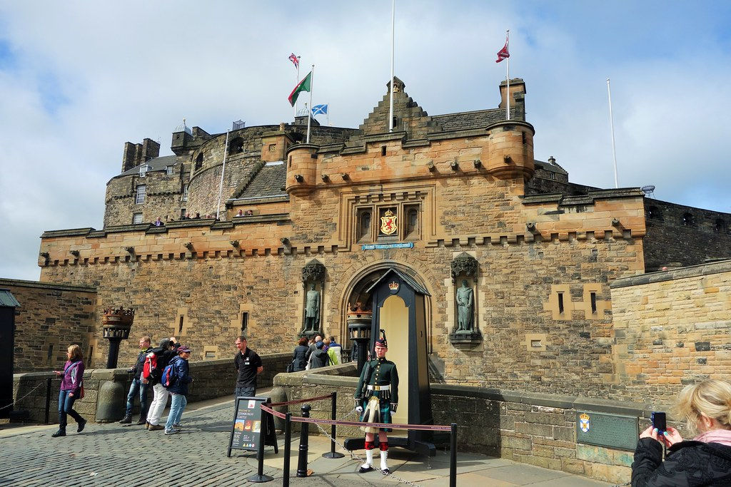 Main entrance to Edinburgh Castle.
