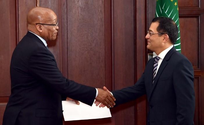 Presentación de cartas credenciales Sudáfrica