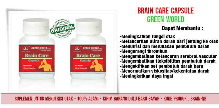 Harga Asli Brain Care Capsule Green World