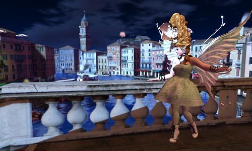 Moonlit Stroll in Venice