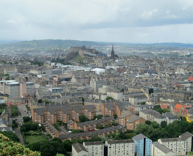 View from Salisbury  Crags 2 castle