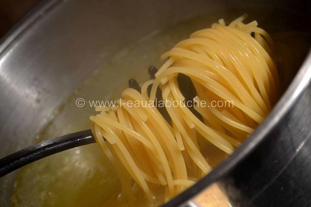 Spaghetti aux Crevettes & aux Trois Poivrons  © Ana Luthi Tous droits réservés 2