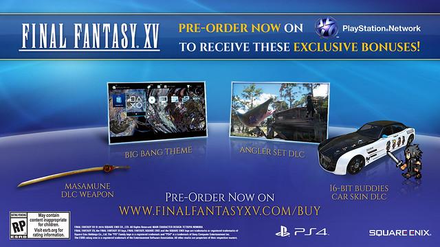PS4 Final Fantasy XV Pre-Order Bonus