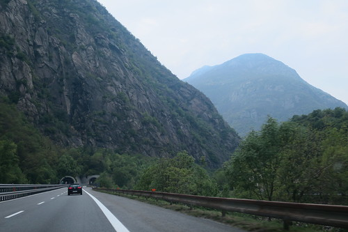 on Autostrada to Valle d'Aosta