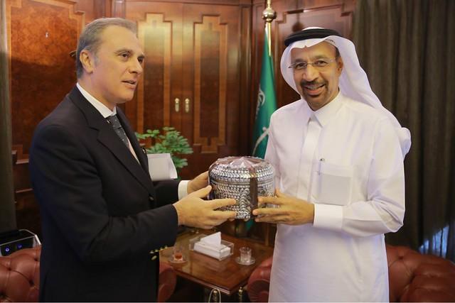 Incontro con il Ministro dell'Energia, Industria e Risorse Minerarie Khalid Al Falih