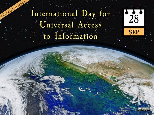 September 28 is the International Day for Universal Access to Information http://planeta.wikispaces.com/access #AccessToInfoDay @UNESCO