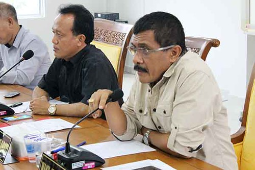 Nono Hadi Siswanto, Harmidi Umar Husen Muhamad Musofa,S.E, H.Sumali,S.E dari Komisi I DPRD Kota Batam turut hadir pada rapat terkait lahan di Baloi Kolam