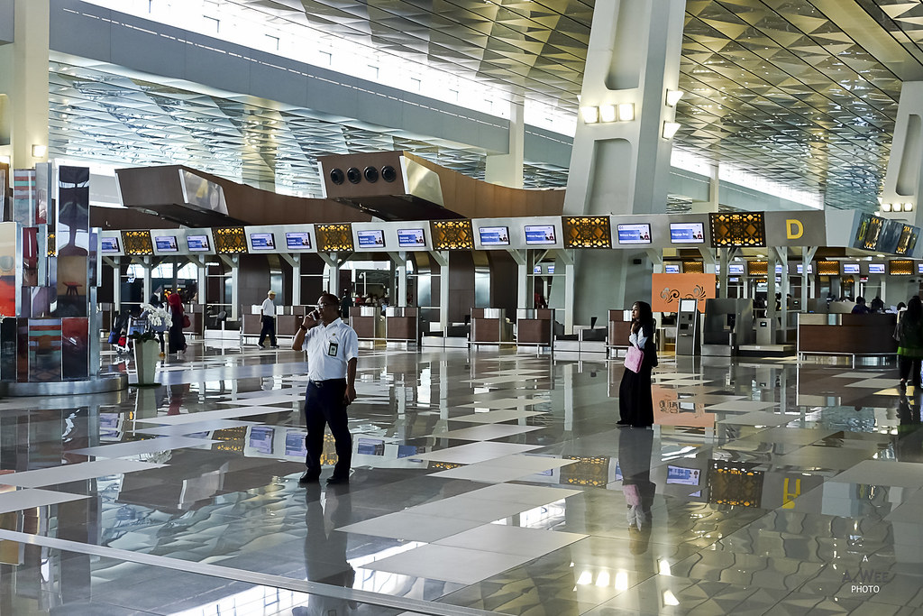 Departure Check-in Counters