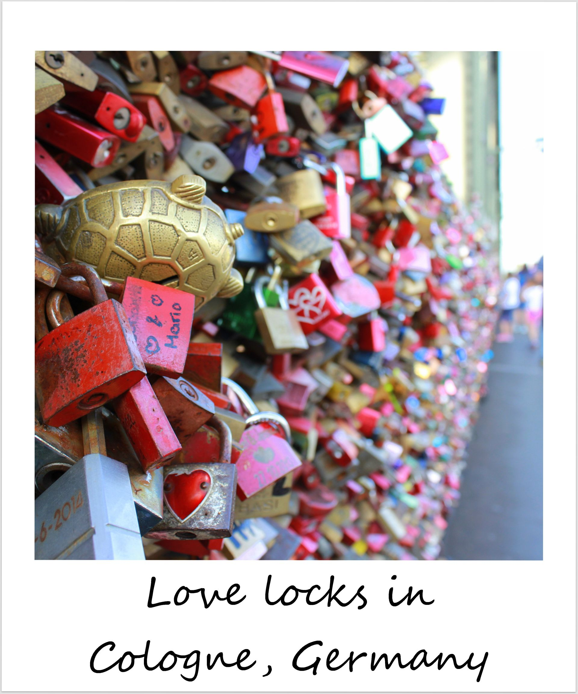 polaroid of the week germany cologne love locks bridge