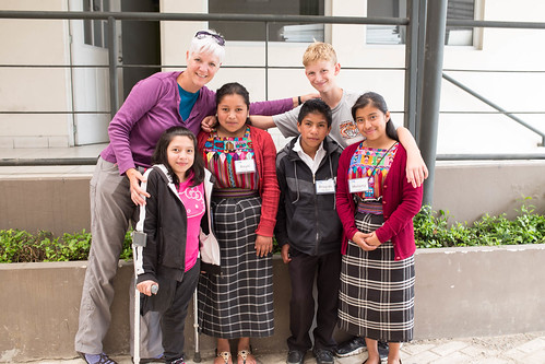 Charlene and David with their four students