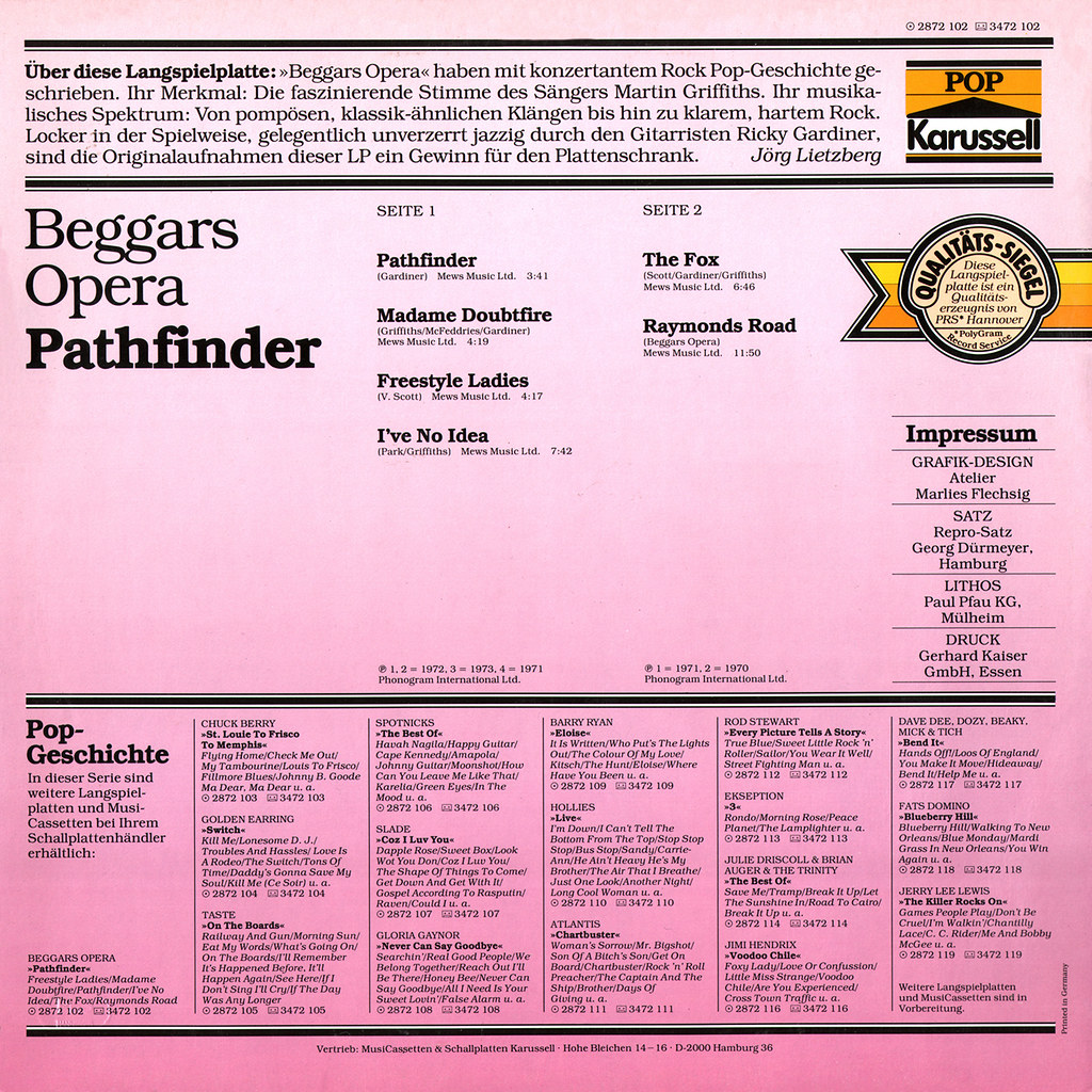 Beggars Opera - Pathfinder