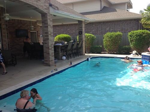 Pool Time on July 4 in Houston