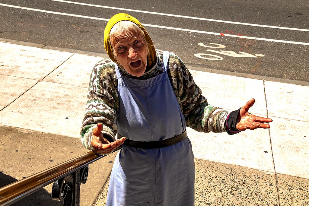 Eileen outside St John the Evangelist Catholic Church--Center City