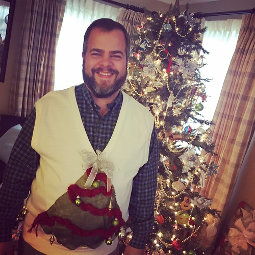 Picture Carrie took of me last year in a Christmas Sweater