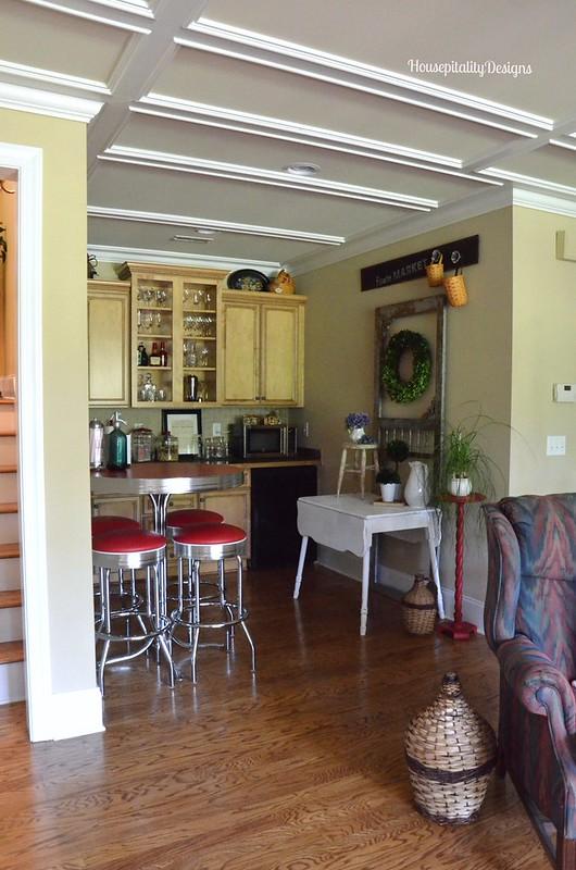 Media Room Kitchenette - Housepitality Designs