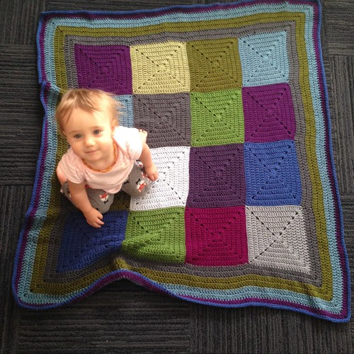 solid granny baby afghan