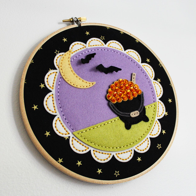 Beaded Cauldron Embroidery Hoop 4