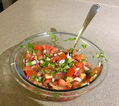 My first batch of salsa