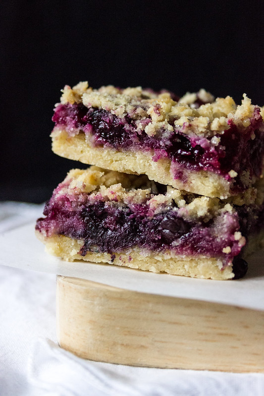 BlueberryLemon Crumble Bars