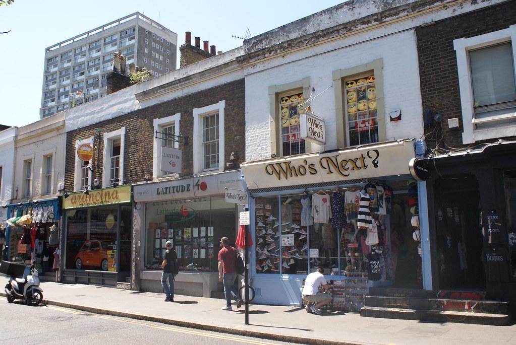 Boutiques dans le quartier de Notting Hill à Londres.