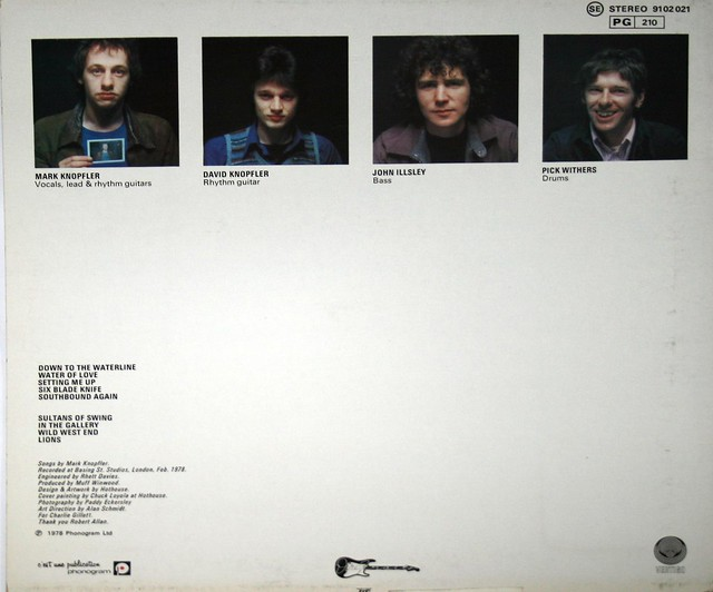 "Dire Straits S/T Self-Titled France 12"" vinyl LP"