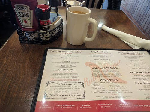 Breakfast at Ruby Slipper Cafe, New Orleans