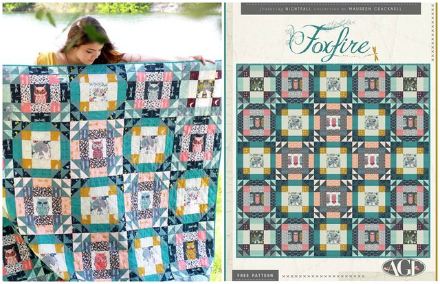 Nightfall LookBook Foxfire Quilt Pattern