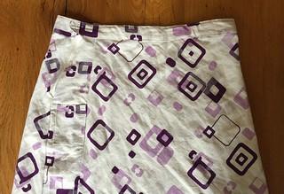 sewed a skirt, wet felted a bag