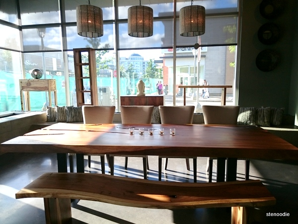 wooden table at Artemano
