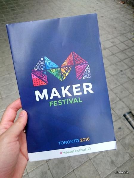Maker Festival 2016 phamphlet