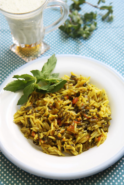 Purslane and Tomato Pilaf post image