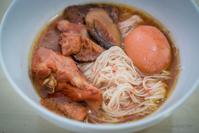 Fuzhou Red Wine Chicken - mee suah and egg