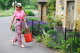 Summer brights - neon florals and Aztec print mixed patterns | Not Dressed As Lamb
