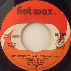 HONEY CONE:SITTIN' ON A TIME BOMB(WAITIN' FOR THE HURT TO COME)(LABEL SIDE-B)