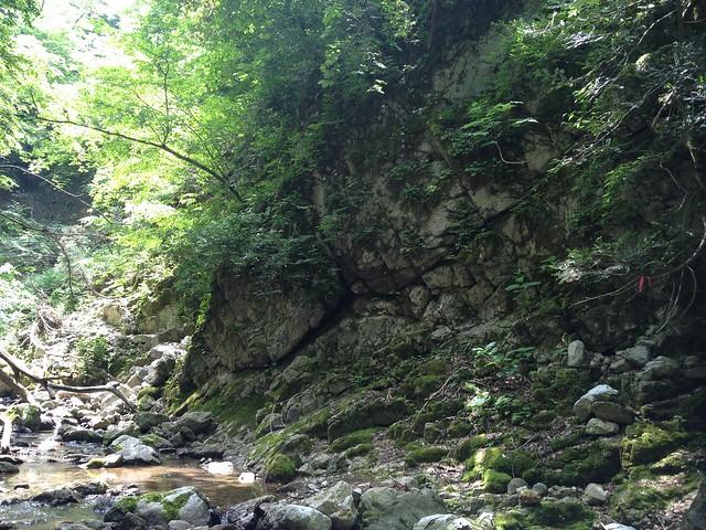 霊仙山 谷山谷登山道 廊下岩