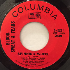 BLOOD,SWEAT & TEARS:SPINNING WHEEL(LABEL SIDE-A)