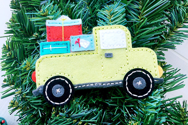 Stitched Truck and Stitched Truck Presents Dies by Papertrey Ink