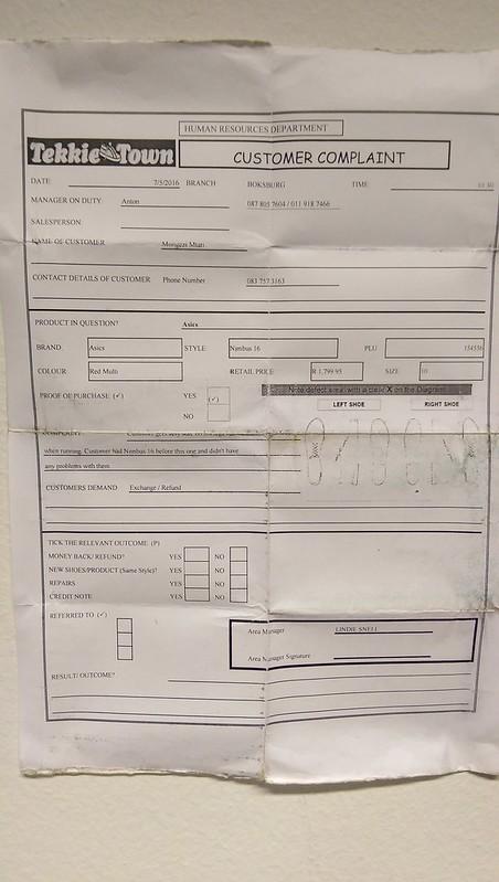 Tekkie Town complaint