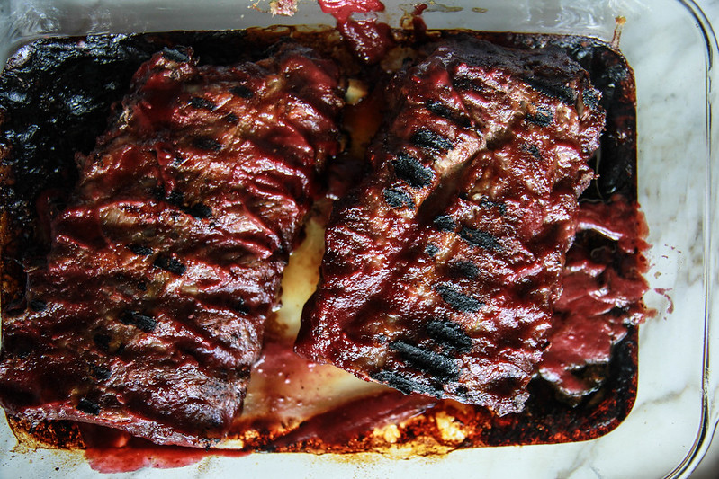 SWeet and Spicy Plum Serrano BBQ Ribs from HeatherChristo.com