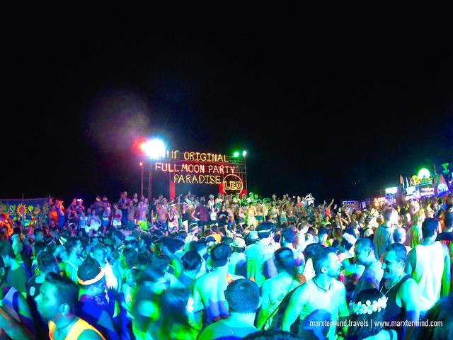 Wild and Crazy Full Moon Party in Haad Rin Beach