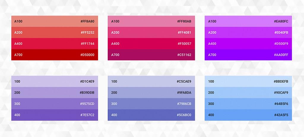 Paleta de colores de Android