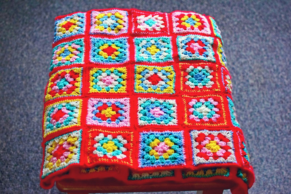 WIP Wednesday: Cath Kidston Granny Square Blanket