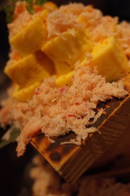 本ズワイ蟹のぶっかけ出汁巻き玉子