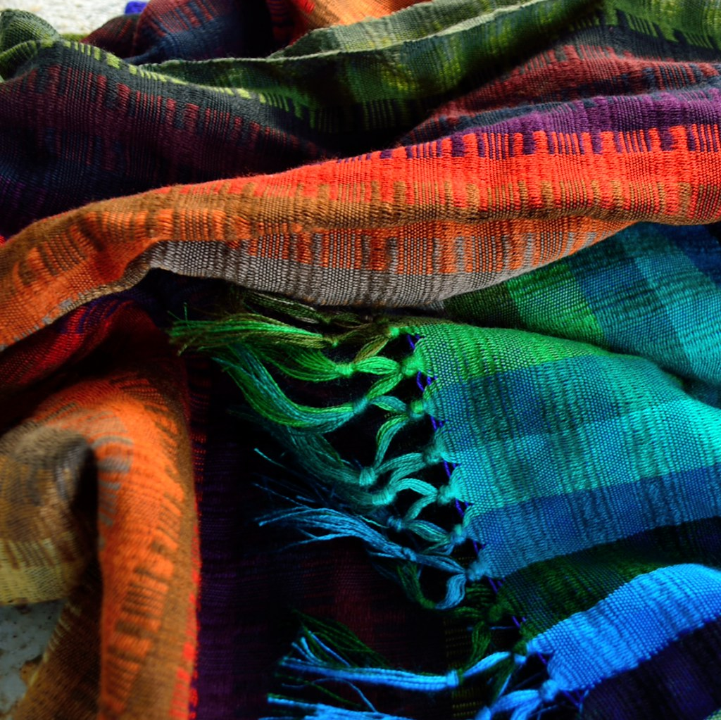 hand-woven cotton shawls