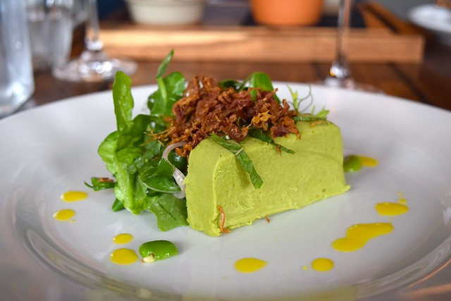 Pea Panna Cotta at The Corner House, Canterbury | www.rachelphipps.com @rachelphipps