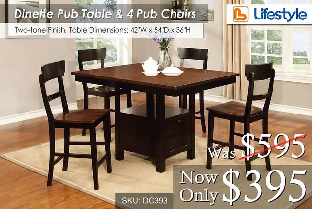 Lifestyle Pub Dinette Set DC393