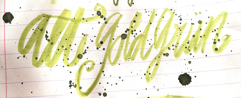 inky goodness alt goldgrün
