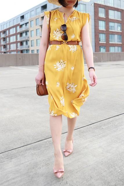 LOFT Hydrangea Flutter Dress